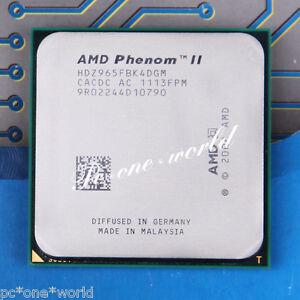100% ok hdz965fbk4dgm amd phenom ii x4 965 3. 4 ghz quad-core.