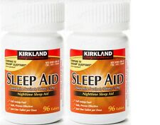 Kirkland Sleep Aid  25 mg 96 Tablets x 2 + Free Worldwide Shipping