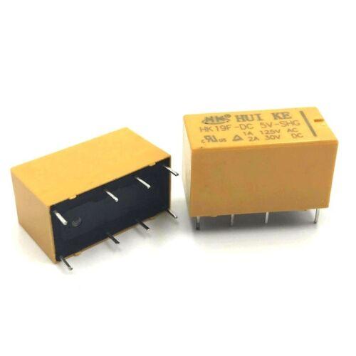 3V//5V//9V//12V//24V 2A 8 Pin DPDT Huike Signal Relay 4078 HK19F-DC-SHG DC Coil