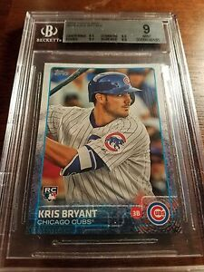 2015-Topps-MINI-Kris-Bryant-Chicago-Cubs-Rookie-Card-616-BGS-9-Mint-AYC