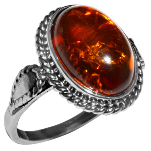 3.75 G Authentic BALTIC AMBER 925 Sterling Silver Ring Jewelry N-A7004