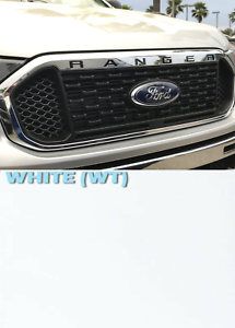 Chrome Front Grille Letters ABS Plastic Inserts Inlay for 2019 Ford Ranger