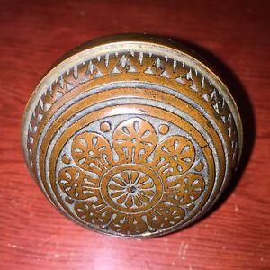 Antique Collectible Vernacular Eastlake Bronze Doorknob Hardware 1880s #1
