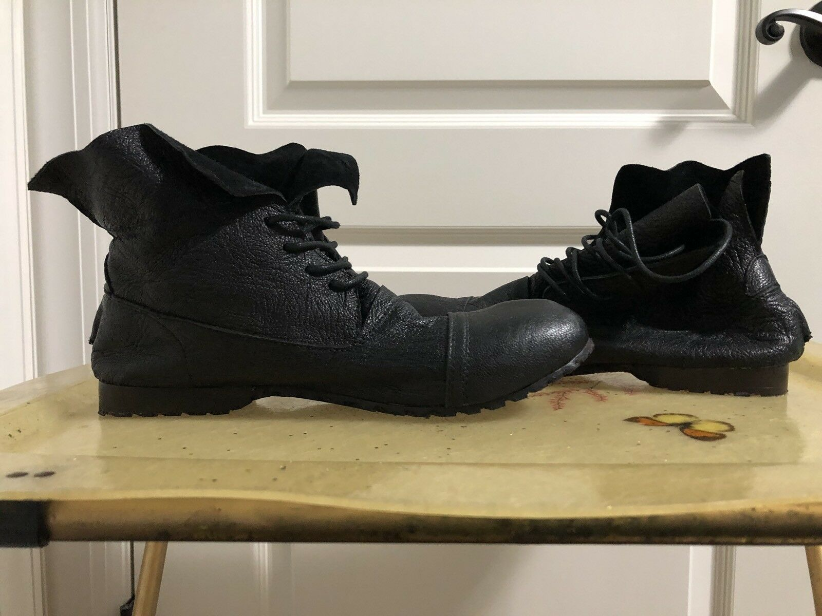 Paul Smith Black Lace Up Boots EURO 39 Leather US 8 Womens