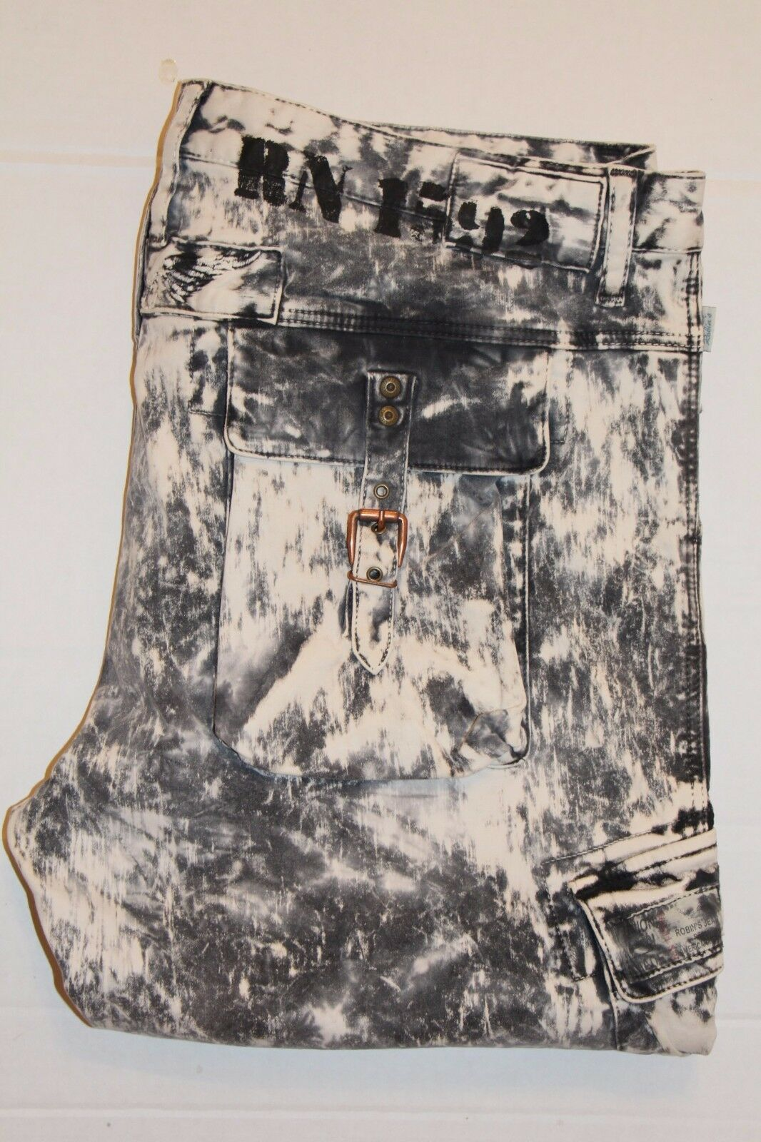 New Men's ROBIN'S JEAN sz 40  SP5912 PREDATOR Slim Cargo Jeans -Storm Wash