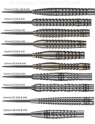 Carrera Pixel Grip 90% Tungsten Steel Tip Darts by Target Darts
