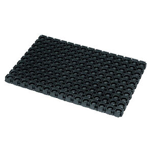 Image Is Loading Black Rubber Waterproof Door Mat Indoor Outdoor Entrance
