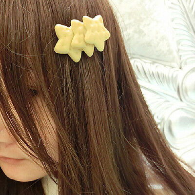 Kawaii Biscuit Hair Clips Creative Star Heart Clip Kids Hair Accessories