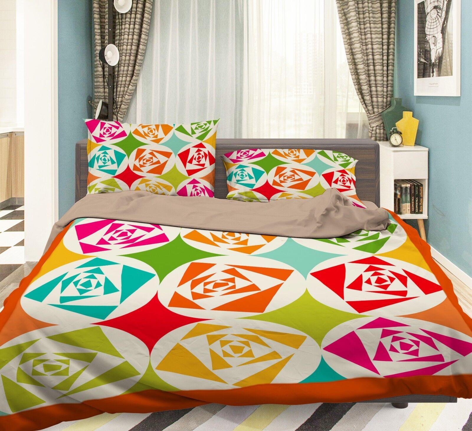 3D Pattern 343 Bed Pillowcases Quilt Duvet Cover Set Single Queen King Size AU