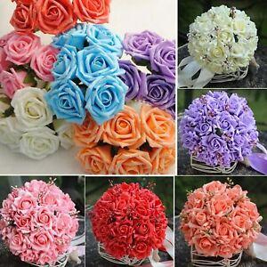 10-50-100-piezas-de-espuma-grande-Artificial-Flor-Rosa-Fiesta-Boda-Ramo-de-artesania-Hazlo-tu-mismo