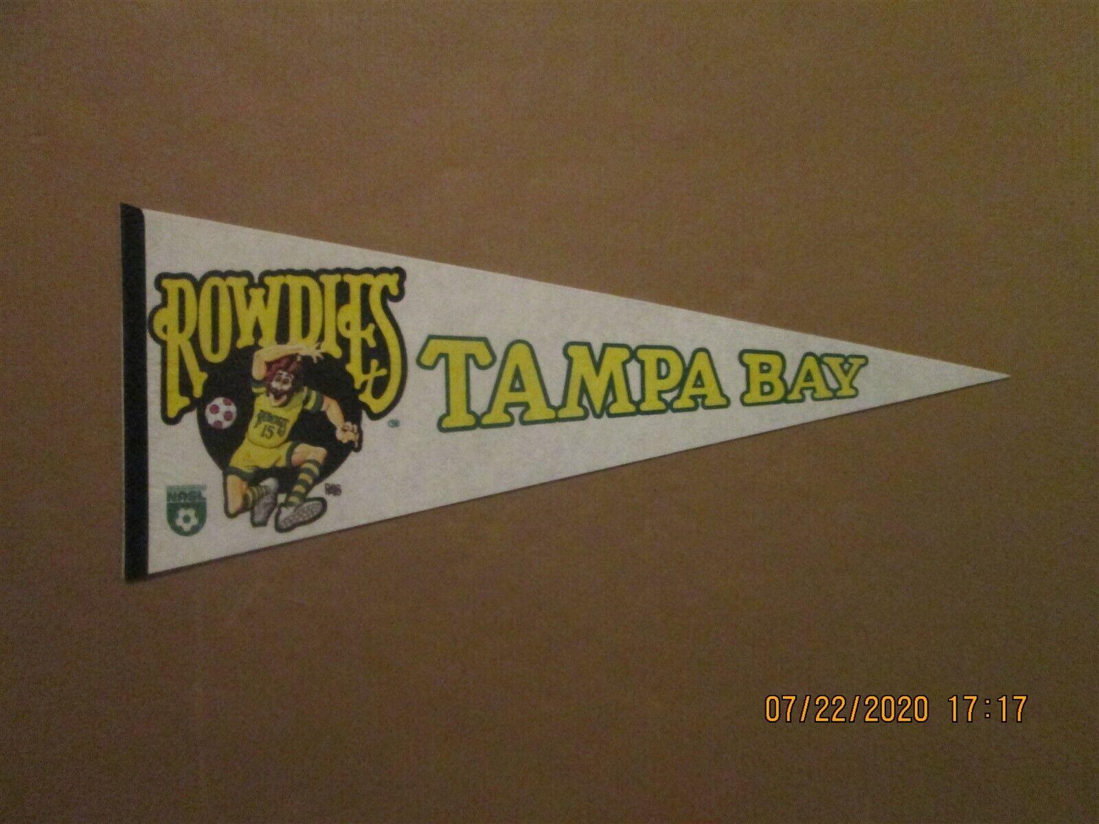 nasl tampa bay rowdies vintage defunct 1970 s ross logo soccer pennant ebay ebay