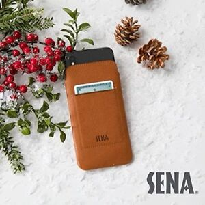 reputable site 99a6a edea0 Details about Sena Cases UltraSlim Wallet Leather Sleeve Case for iPhone X  & XS (Tan)
