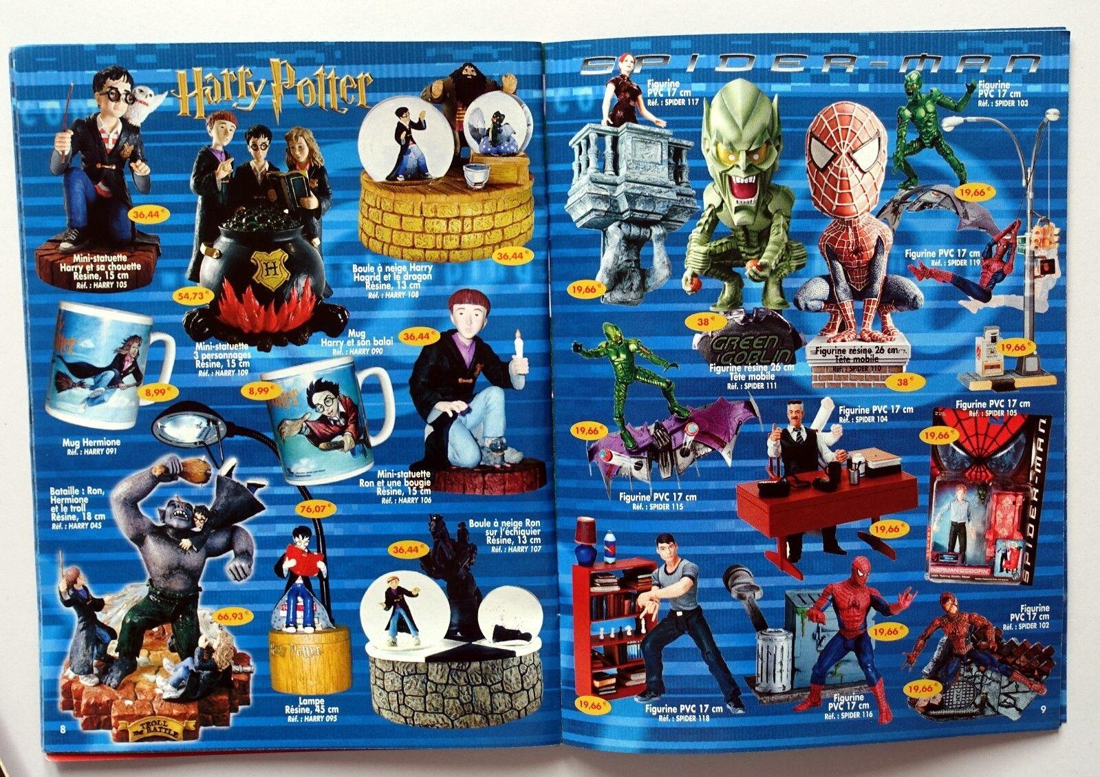 Catalogue jouets 2003 Casimir goldorak Shrek Harry Potter Spider-man Lord rings