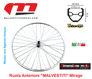 "9030-Front Wheel /""Malvestiti/"" Mirage release for bike 28/"" race-track."