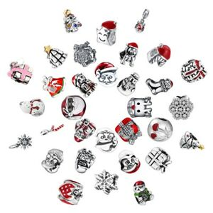 Christmas-Gift-Charms-Bead-Fit-925-Silver-Sterling-Bracelets-Necklace