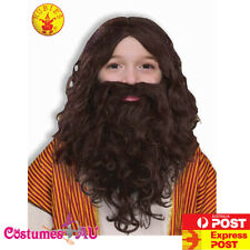 Deluxe Child JESUS Costume Robe and Drape Beard Wig Thorn Crown