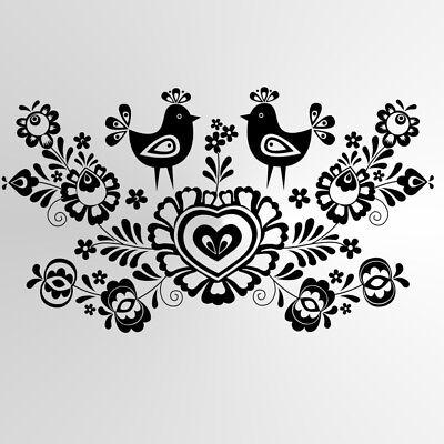 Love Pigeons BIG SIZES Reusable Stencil Wall Decor Shabby Chic Animal Bird106