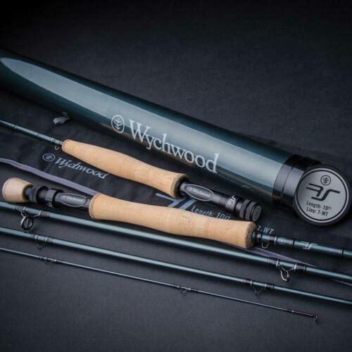 TROUT SALMON FISHING WYCHWOOD RS FLY RODS 4 PCS WITH CARBON TRAVEL TUBE