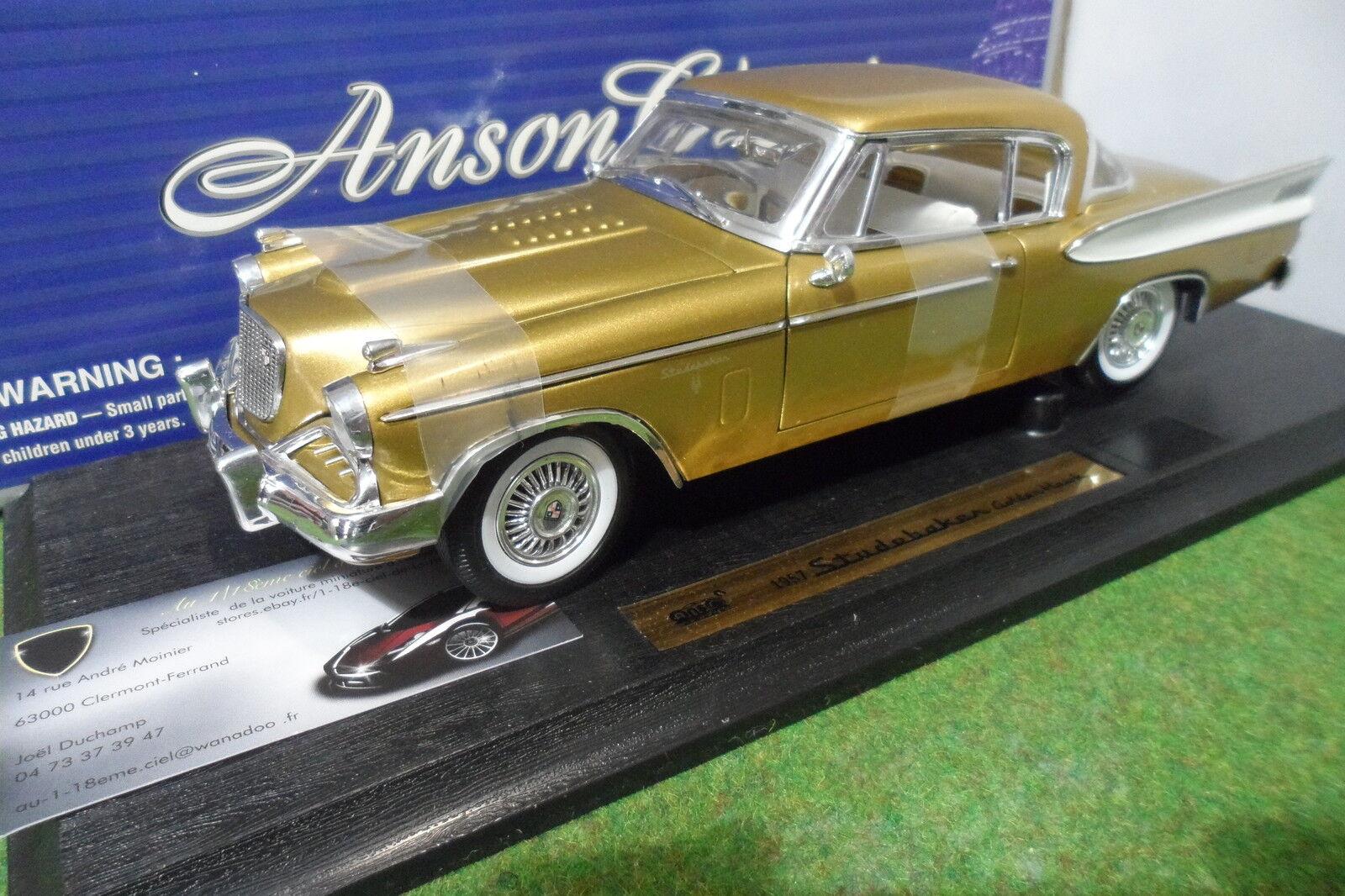 STUDEBAKER oroEN HAWK 1957 Or oro au 1 18 ANSON 30384 voiture miniature