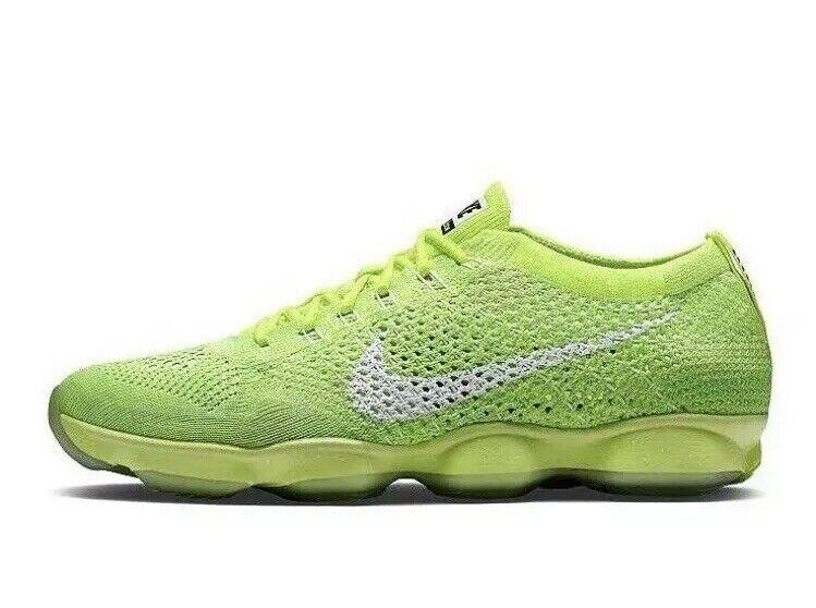 Nike Wmns Flyknit Zoom Agility 698616-700 Volt Weiß UK 7.5 EU 42 US 10 New