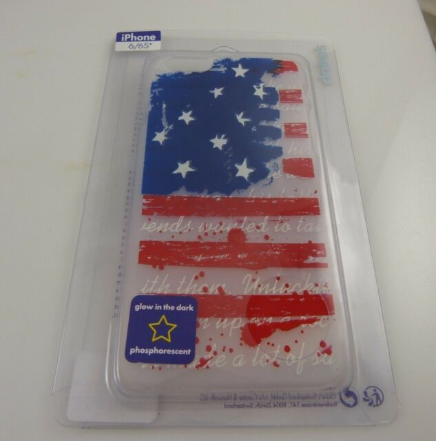 fits iPhone 6 phone case american flag 4th of July glows in dark patriotic