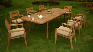 9-PC-OUTDOOR-DINING-TEAK-SET-117-034-DOUBLE-EXTN-RECT-TABLE-8-STACKING-ARM-CHAIRS
