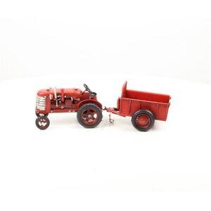 9973785 Nostalgic Model Car Classic Car Tractor With Pendant 11x11x33cm