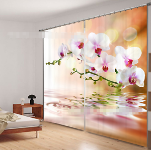 3d blancoo flor 354 bloqueo foto cortina cortina de impresión sustancia cortinas de ventana
