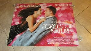 FORCES OF NATURE MOVIE POSTER ART BUTTON SANDRA BULLOCK