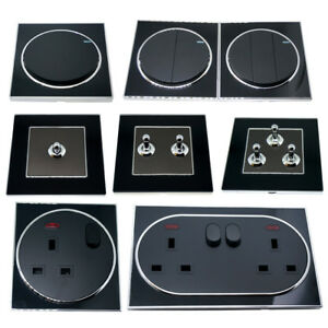 Light-Switches-amp-sockets-Screwless-Face-Classic-10A-Two-way-Toggle-13-Amp-UK