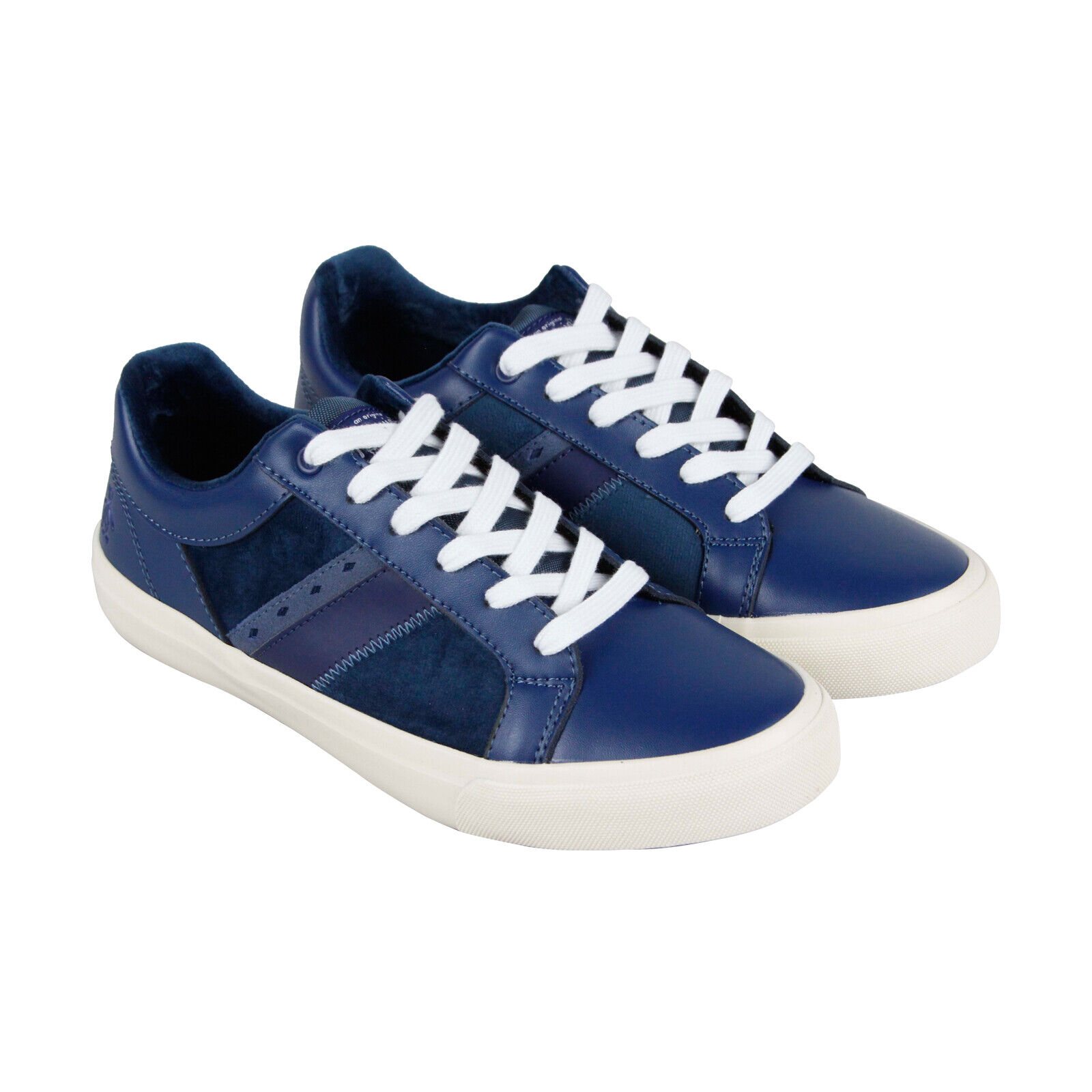 Original Penguin Bruce Mens bluee Leather Lace Up Sneakers shoes