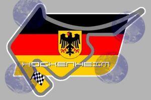 Fougueux Circuit De Hockenheim Deutschland Racing Sticker Autocollant Stickers 13cm