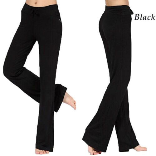Women Bootcut Yoga Pants Bootleg Flare Trousers Workout Casual Fitness Running T