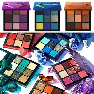 9-Colores-Paleta-de-Sombra-de-Ojos-Mate-Brillo-Maquillaje-Cosmetico-Sombra-de-Ojos-Brillo