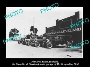OLD-LARGE-HISTORIC-PHOTO-OF-PINNAROO-SA-CHANDLER-amp-CLEVELAND-MOTOR-GARAGE-c1930