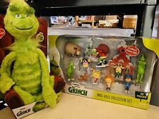 The Grinch Who Ville Collection Set 10 Piece Character Figures Dr Seuss 2018