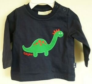 Baby Girls Clothes NEXT Embroidered Dinosaur Striped T-Shirt Tee 3-6 Months BNWT