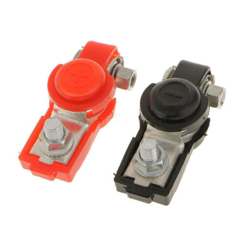 2x Adjustable Battery Terminal Clamp Clips Negative Positive for Car Truck TFSU