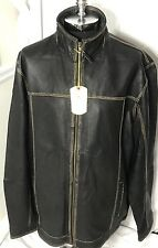 Tommy Bahama Men's Rocker Canyon Black Leather Jacket Size 2XT SOLD OUT!!!
