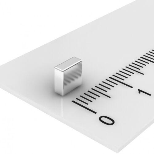 50 Stück Neodym Magnet N52 vernickelt 5x5x2mm AB LAGER