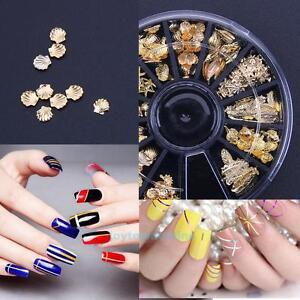 Summer-3D-Gold-Metal-Nail-Art-Paillette-Ocean-Shell-DIY-Tips-Manicure-Decoration