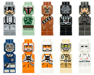 LEGO-Star-Wars-Rare-Complete-Set-of-10-Microfig-New-Microfigs-From-3866