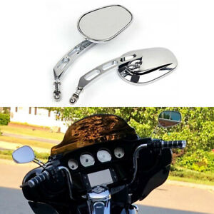 Chrome Motorcycle Mirrors For Harley Davidson Fatboy Heritage Softail Road King Ebay