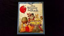 Winnie The Pooh Blu ray+DVD+Digital W/Slipcover,New,Disney