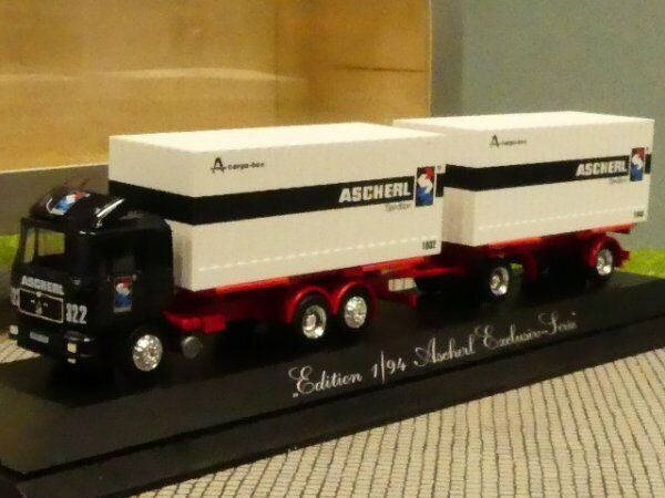1 87 Herpa MAN F90 ASCHERL CARGO BOX Hängerzug 171 120