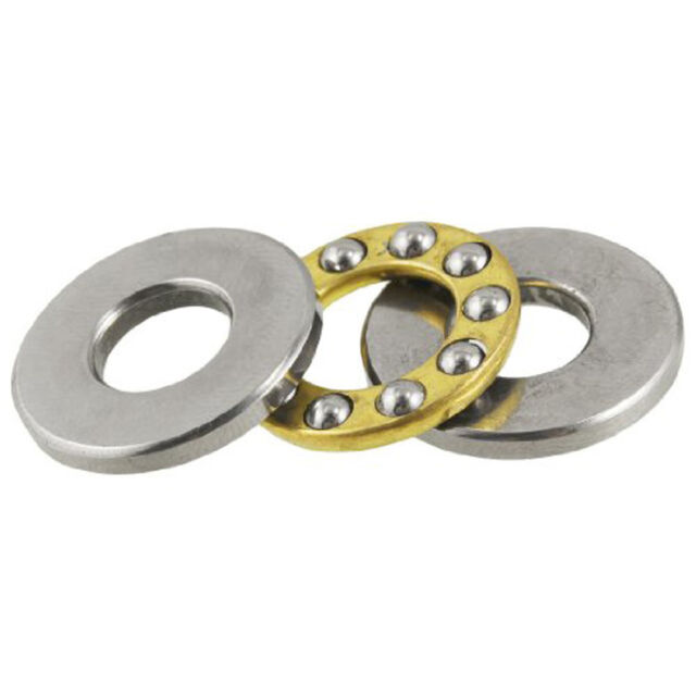 Hot Sale Practical 19mm x 8mm x 7.2mm Silver Tone Metal Ball Thrust Bearing M9