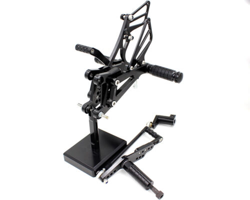 FXCNC Fit Yamaha YZF R1 2007-2008 CNC Racing Rearset Foot Pegs Footrest Rear Set