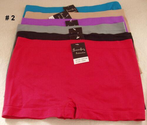 Lot 6 Womens Boyshorts Underwear Panties Boxer Brief Spandex Queen Size 72041QM