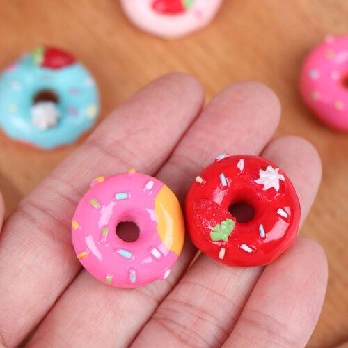 10Pcs 1:12 Dollhouse miniature candy donut bread doll house kitchen deB S*