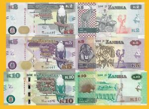 ZAMBIA 2 KWACHA 2018 P NEW SIGN SECURITY UNC